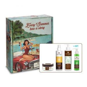 Vintage box aquaholic summer essentials Messinian Spa